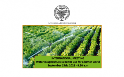 Water in agriculture: a better use for a better world