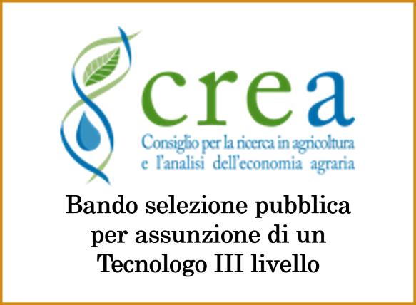 CREA – bando selezione pubblica